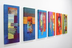 Prism group of textile artists member Ruth Issett - Discolation Relocation Textila serier - blandtekniker. Quilt Display, Creative Textiles, Art Sculpture, Contemporary Quilts, Quilt Modern, Quilt Festival, Sewing Art, Small Quilts, Textile Artists