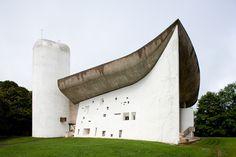 Le Corbusier, Notre-Dame-du-Haut, Ronchamp, France, 1950-55; exterior   by rpa2101
