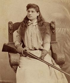 Annie Oakley, one of the best sharpshooters of the Old West.
