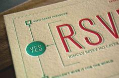 Modern Venn Diagram Overprinting Letterpress Wedding Invitations Rise and Shine Paper5 550x365 Kristen + Lorens Modern Diagram Letterpress W...