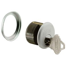 1 in. L Aluminum Heavy Duty Mortise Key Cylinder Lock