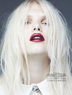 Pale Ash Blonde by Paul Morel, ELLE Mexico December 2013