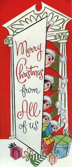 Merry Christmas from all of us! #vintage #Christmas #cards