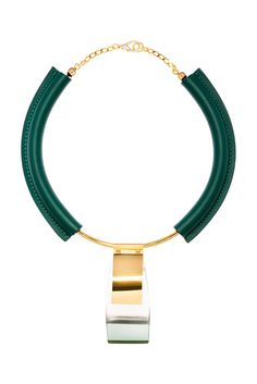 Marni Photo: Courtesy of MarniCategory fall 2014, Marni, jewelry, necklaces, gold, green, metallic, silver