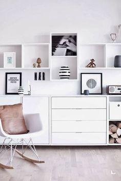 White storage system. Via Imagination for breakfast