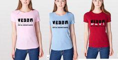 Vegan Beating Hearts Womens Shirt - American Apparel - Vegan Shirt - Vegan clothing