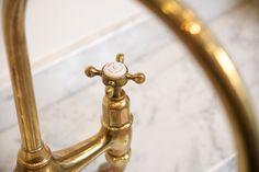 deVOL Aged Brass Taps by Perrin & Rowe
