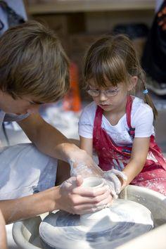 Ceramics booth at Sawdust Art Festival in Laguna Beach, CA
