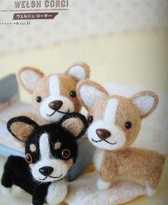 felt dogs made of wool -- japanese craft book