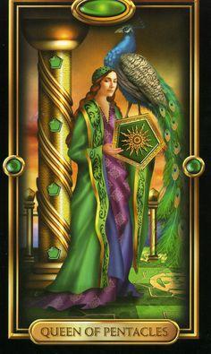 Gilded Tarot Queen of Pentacles