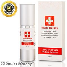 Vitamin C Facial Serum 18% - Super Effective for Improving the Texture and Clarity of Your Complexion - Soften Fine Lines and Smooth out Wrinkles - Increase Collagen Production & Repair Sun Damage - Anti-aging Formula - 100% Guarantee Swiss Botany http://www.amazon.com/dp/B00KKPJ790/ref=cm_sw_r_pi_dp_S6awub0WZSXAQ