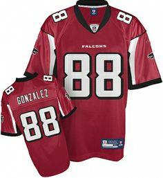 Atlanta Falcons 88# Tony Gonzalez red Jersey, buy jerseys, wholesale price:$22.00