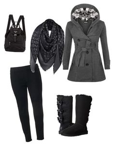 """""""stay warm"""" by syddeon on Polyvore featuring WearAll, SONOMA Goods for Life, UGG Australia and Louis Vuitton"""