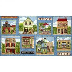 Panel de casas http://www.gloriapatchwork.com/tienda/paneles-varios/7182-panel-de-casas.html