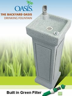 Have always wanted a drinking fountain in my back yard and this one looks perfect! Drives me nuts how kids come in constantly with all their friends asking for a drink of water during the summer.