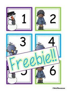 FREEBIE!! Winter Calendar Cards   dreambigkinders.blogspot.com