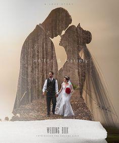 Album-Layout, Album-Cover, Cover-Design, Doppelbelichtung – My Great Pins Wedding Photo Books, Beach Wedding Photos, Wedding Photo Albums, Wedding Book, Wedding Pictures, Wedding Album Design, Wedding Album Cover, Wedding Ideas, Wedding Album Layout