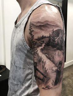 40 landscape tattoo ideas - tattoo motifs - 40 landscape tattoo ideas Informations About 40 Landschafts Tattoo Ideen – Tattoo Motive Pin You c - Natur Tattoo Arm, Natur Tattoos, Body Art Tattoos, Girl Tattoos, Tattoos For Guys, Tattoo Drawings, New Tattoos, Montain Tattoo, Nature Tattoo Sleeve