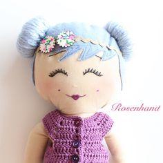 "Gefällt 51 Mal, 1 Kommentare - Rosenhand (@rosen.hand) auf Instagram: ""Guten Morgen  . . #stoffpuppe #pocket #doll #puppe #handmade #selfmade #selbermachen #bezbebek…"""