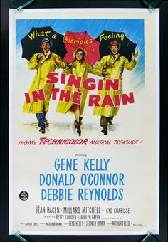 free printable, printable, classic posters, free download, graphic design, movies, retro prints, theater, vintage, vintage posters, Singin' in the Rain, Gene Kelly, Donald O'Connor - Vintage Movie Poster