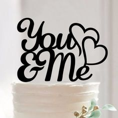 You And Me Acrylic Silhouette Wedding Cake Topper - Wedding Look
