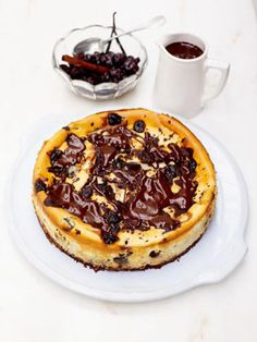 I've used cherries here because they take two things that are already delicious together – cheesecake and chocolate – to a whole new level. You really can't beat a good cheesecake and this one is mega.