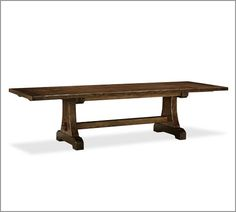 Pottery barn benchwright extending table rustic mahogany for Dining room table 40 x 60