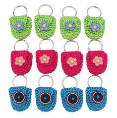 Cute key ring coin holder--crochet