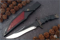 love this knife . by Stefano Trentini Types Of Knives, Knives And Tools, Knives And Swords, Cool Knives, Knife Sheath, Fixed Blade Knife, Tactical Knives, Custom Knives, Knife Making