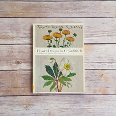 New in The Book Cottage: Danish Handicraft Guild Flower Designs in Cross Stitch Rare Cross Stitch Design Book Bird Cross Stitch Bird Design Embroidery Retro Colors by TheBookCottage