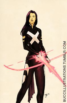 buccillustrations: Psylocke, with Bow. June...