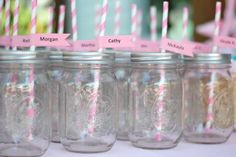 Mason Jars with Holes Drilled for Straws - Perfect for Parties and Baby/Bridal Shower Favors!