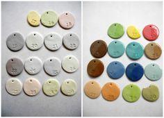 colored porcelain samples