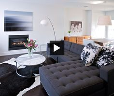 Tour a modern, uncluttered space.
