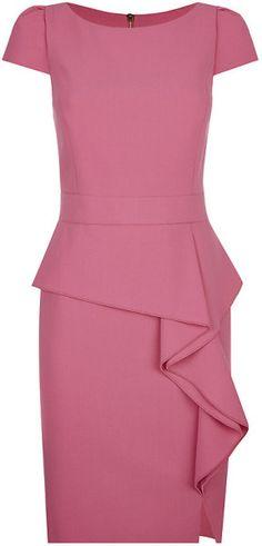 Emilio pucci Ruffle Peplum Dress in Pink