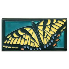 This graceful turquoise butterfly tile is based on the work of French art nouveau artist A. Michigan, Butterfly Lighting, Butterfly Art, Monarch Butterfly, Art Nouveau Tiles, Clay Studio, Art Deco Period, Decorative Tile, Tile Art