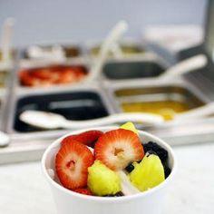 Fresh fruit froyo toppings