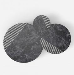 GROOVE | Alain Gilles - side tables and sofa tables - lines - stripes - marble - wood