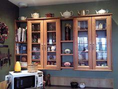 IKEA Hackers: Leksvik Pine CD Cabinets and Ikea Pine Shelves = Kitchen Cabinets