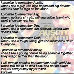 R.I.P. Austin and Ally. They will always be in our hearts.