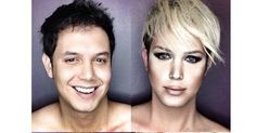 These are some of the wildest celebrity makeup transformations we've ever seen. Male Makeup, Kiss Makeup, Makeup Art, Beauty Makeup, Fairy Makeup, Mermaid Makeup, Celebrity Makeup Transformation, High Fashion Makeup, Theatre Makeup