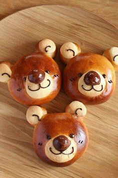 Baby Food Recipes, Bread Recipes, Sweet Recipes, Cute Food, Good Food, Japanese Bread, Bread Shaping, Bread Art, Cooking Bread