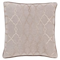 Featuring a shimmering trellis design, this stylish pillow lends a pop of style to your sofa or loveseat.   Product: Pillow...