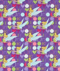 Springs Creative Disney Tinkerbell Tink in Lights & Dots Fabric - $6.4   onlinefabricstore.net