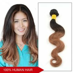 16 Inch - 26 Inch Brazilian Ombre Hair Body Wavy Two Tone Color #1B/30 Remy Human Hair Weaving 100g Shipping by DHL