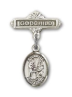 ReligiousObsessions Sterling Silver Baby Badge with St Maximilian Kolbe Charm and Godchild Badge Pin * You can find more details by visiting the image link. (This is an affiliate link) I Love Jewelry, Jewelry Design, Women Jewelry, Designer Jewelry, Godchild, Ankle Bracelets, Charm Bracelets, Our Lady, Pin Badges