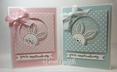 Pink Pirouette and Soft Sky Easter cards Friends & Flowers stamp set from Stampin'Up! Dawn Griffith Occasions catalog 2016