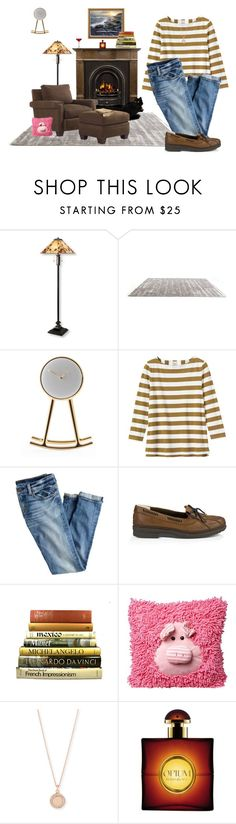 """Fireside Sunday with Books & Cat"" by winscotthk ❤ liked on Polyvore featuring L.L.Bean, Bosa, Toast, J.Crew, UGG Australia, Table Art, Astley Clarke, Yves Saint Laurent, women's clothing and women's fashion"