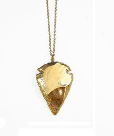 24K Gold Dipped Arrowhead Necklace