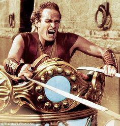 Charlton Heston in the chariot race in Ben Hur (1959)